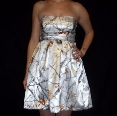 bridesmaids dresses if white camo wedding dress is picked.