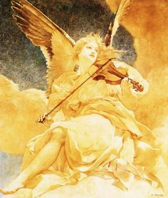 L'ange musicien (1892). Henri Pinta (1864–1901). Music is the language spoken by angels.~ Henry Wadsworth Longfellow