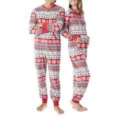9a0265c923 Family PJs - Family PJs Family Sleep Merry Everything Mens or Womens Unisex  Union Suit Pajamas (S-5X) - Walmart.com