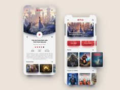 Netflix – Mobile App Redesign - My Design Ideas 2019 Ios App Design, Mobile Ui Design, Ux Design, Homepage Design, Design Layouts, Application Ui Design, Application Mobile, Mobile Applications, App Design Inspiration