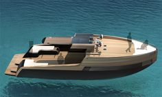 EM414 Boat is a weekend getaway launch, sitting at just over 12 metres long and powered by twin Cummins jet engines.