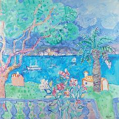Paul AÏZPIRI - né en 1919 BEAUVALON, VUE DU GOLFE DE SAINT-TROPEZ Huile sur toile signée en bas à droite. 130 x 130 Un certificat de la galerie Tamenaga sera remis à l'acquéreur - Eric Pillon Enchères - 14/12/2014
