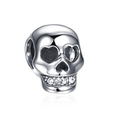 Terrible Skull Charm 925 Sterling Silver