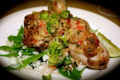 Lime Leaf Chicken with Coconut, Ginger and Snow Pea Rice