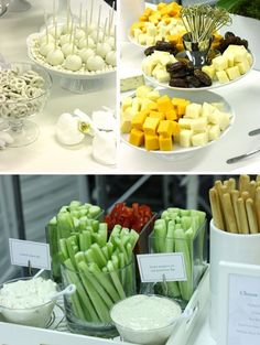 party idea food presentation - different way to do vegies and dip Tapas, Party Food And Drinks, Snacks Für Party, Healthy Snacks, Healthy Eating, Healthy Recipes, Fingerfood Party, Good Food, Yummy Food