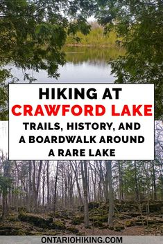 Hiking at Crawford Lake Conservation Area is such a treat! There are of hiking trails, and one of them is a boardwalk around a rare meromictic lake. There's also an Iroquois Village. Hiking in Ontario Solo Travel, Travel Tips, Budget Travel, Travel Guides, Backpacking Ireland, Ireland Travel, Canada Travel, Travel Usa, Places To Travel