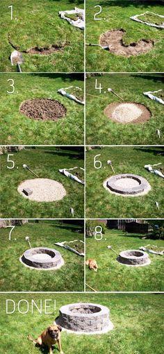 Nachdem wir im Garten noch eine Feuerstelle brauchen...  Basics of fire-pit construction