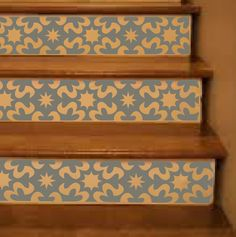 Vinyl Stair Riser Decals . 'Carnivale' Style by crowbabys on Etsy