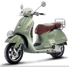 vintage green Vespa