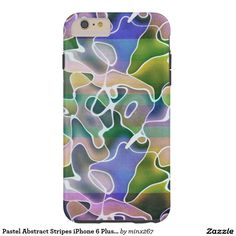 Pastel Abstract Stripes iPhone 6 Plus Case