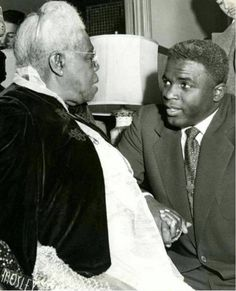 Jackie Robinson and Mary McLeod Bethune in 1955 just before her passing . Mary Jane McLeod Bethune (born Mary Jane McLeod; July 10, 1875 – May 18, 1955) was an American educator and life rights leader best known for starting a private school for African-American students in Daytona Beach, Florida. Via Wikipedia.