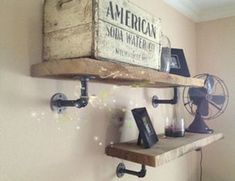 2pcs Vintage Country Style Pipe Shelf Bracket Holder For Industrial Steampunk