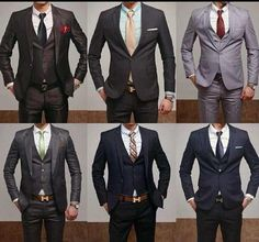Classy.Men in well tailored suits.