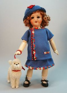 Bleuette modèle pour vêtements de poupée  ROBE par tresbellepoupee, $15.00