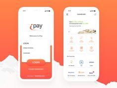 iPay - digital payment app by Raj Shrestha Login Page Design, App Ui Design, Mobile App Design, Android App Design, Android Ui, Web Design Inspiration, Work Inspiration, Website Footer, App Login