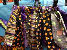 Halloween Fabric Scrap Tutu  by TwoCraftyMothers on Etsy, $18.00