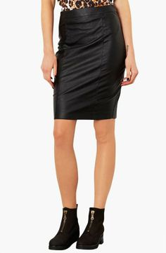 Nordstrom  Topshop Faux Leather Pencil Skirt Regular & Petite