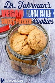 Sweet Potato Cookies Recipe by Dr. Fuhrm… Sweet Potato Cookies Recipe by Dr. Fuhrman Eat to Live Potato Cookie Recipe, Peanut Cookie Recipe, Sweet Potato Cookies, Cookie Recipes, Dessert Recipes, Vegan Sweets, Vegan Snacks, Gourmet Recipes, Whole Food Recipes