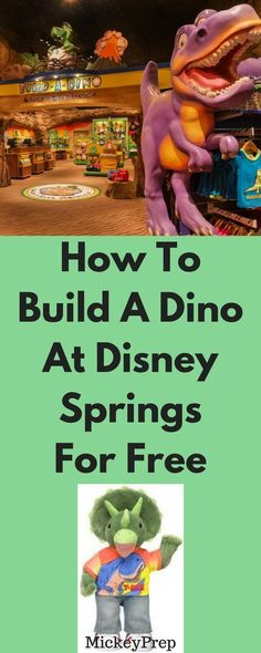 How to do Build A Dino at Disney Springs for FREE! T Rex café Disney springs has a Build-a-Bear called Build A Dino and you can do it for free in Disney! Disney World 2017, Disney World Florida, Disney World Planning, Walt Disney World Vacations, Disney Trips, Disney Parks, Disney Worlds, Disneyland Trip, Disney Bound