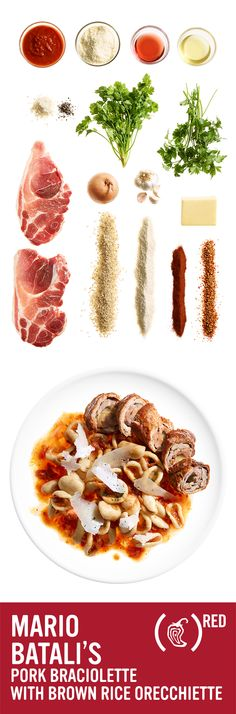 Mario batali s chipotle inspired pork braciolette with brown rice