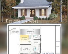 Cabin House Plans, Small House Plans, Tiny Cottage Floor Plans, Guest Cottage Plans, Small Farmhouse Plans, Guest House Plans, Tiny Home Floor Plans, 1 Bedroom House Plans, Tiny Cabin Plans