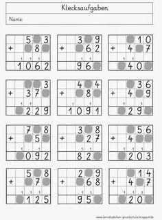 Lernstübchen: Klecksaufgaben | MATEM 2ºano | Pinterest | Math ...