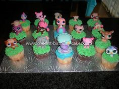 Coolest Littlest Pet Shop Birthday Cake: My 6 year old wanted a Littlest Pet Shop Themed Birthday Party so I started my research and went to work with many different ideas in my head for a Littlest