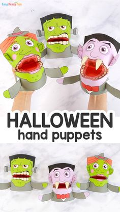 Printable Halloween Puppets Templates – Easy Peasy and Fun Membership Halloween Labels, Halloween Crafts For Kids, Halloween Projects, Halloween Fun, Holiday Crafts, Easy Paper Crafts, Crafts To Do, Kids Crafts, Family Reunion Themes