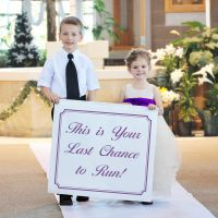 considering making this for Rhaya and Luke to carry down the isle!!  lol