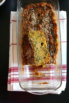 Terrine de légumes à la farine de pois chiche (vegan) #piqueniquepinterest