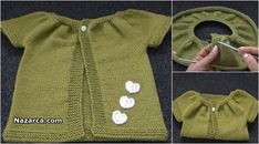 TIĞLA ÜÇGEN BAŞLANAN KIZ ERKEK ASKILI BEBEK ŞORT   Nazarca.com Crochet Stitches, Knit Crochet, Baby Vest, Baby Knitting Patterns, Sweaters, Sari, Fashion, Crochet Vest Pattern, Tejido
