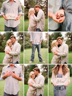 Collage of engagement pics