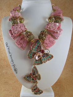 Cowgirl Necklace Set  Chunky Pink Howlite  by Outwestjewelry