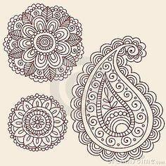 Henna Mehndi Paisley Flower Doodle Design Stock Photos - Image: 18564773