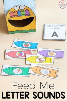 Feed me beginning sounds crayon box activity. A fun way for kids to learn letter sounds. This is perfect for your back to school literacy centers! #preschool #kindergarten #literacy #literacycenters #freeprintable #alphabet #alphabetactivity #prek #alphabetactivities Preschool Literacy, Free Preschool, Literacy Activities, Preschool Activities, Literacy Centers, Language Activities, Kindergarten Reading, Teaching Reading, Learning Resources
