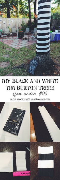 This simple Halloween DIY is perfect for a Tim Burton-themed party! Learn how I made Tim Burton trees for under $10, plus get step-by-step instructions.