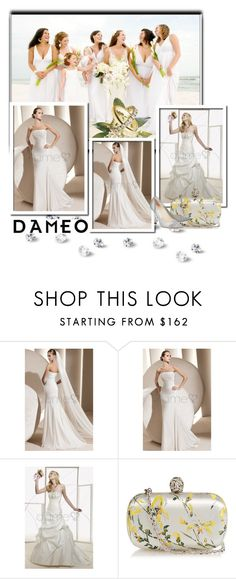 """Dameo Wedding dress"" by newoutfit ❤ liked on Polyvore featuring Gypsy05, ETUÍ, Alexander McQueen, Jimmy Choo, Cartier, women's clothing, women's fashion, women, female and woman"
