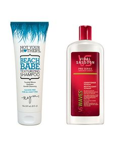 """How to get beach hair, when you're not actually at the beach. According to celebrity stylist Ben Skervin from Vidal Sassoon, texturizing shampoo and conditioner actually work to enhance your hair's waviness to create texture without dirtying it up. He says, """"Hair with a wave and curl can help give you a bit more texture and lift to the hair."""""""