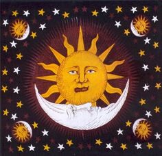 Jumbo Sun, Moon & Stars Tapestry (Black) Amazon.com: