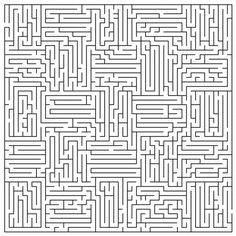 Very Difficult Mazes Coloring Page