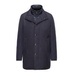 Men Moncler Dark Blue Fusain Versatile Long Coat