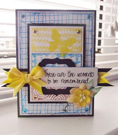 Polka Doodles Studio 12 stamps - Distressed Zig and Zag plus Dreamy Trees  Senior DT: Lou Sims