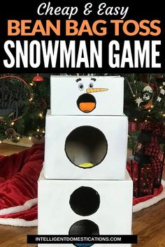 How Japanese Interior Layout Could Boost Your Dwelling Make This Cheap And Easy Cardboard Box Snowman Bean Bag Toss Game For The Preschoolers And Toddlers To Play At Your Christmas Party. Christmas Games For Family, Christmas Party Games, Toddler Christmas, Preschool Christmas Games, Preschool Winter, Preschool Games, Daily Activities, Xmas Party, Christmas Snowman