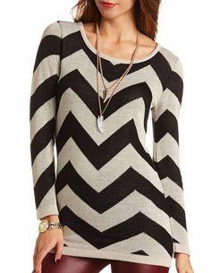 Chevron Sweater Tunic: Charlotte Russe