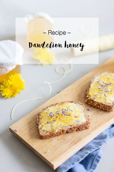 Have you ever heard of or made dandelion honey? If not, this recipe is fool prove and makes such a treat - perfect as jam or goes great with cheese! Look What I Made, Honey Recipes, Preserving Food, Treats, Cooking, Ethnic Recipes, Dandelions, Frugal Living, Cheese