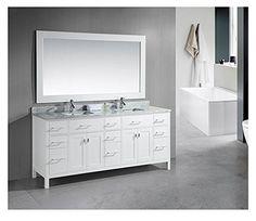 Design Element London (double) 78-Inch Modern Bathroom Vanity Set (White)