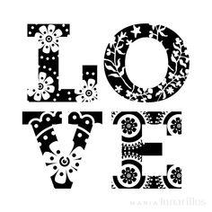 Mini tampon transparent Love - Planche 7 x 9 cm - Tampon transparent - Creavea Diy Photo, Happy Monday Quotes, Stencils, Rock Poster, Tampons Transparents, Quotes About Motherhood, Cricut Creations, Love Wallpaper, Vinyl Projects