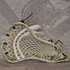 #LacrosseUnlimited Tom Schreiberr Lacrosse Head, Gold white speckle dye. #lax #Lacrosse #Midfield