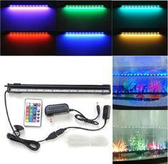"Crzdeal® Underwater Aquarium LED Light Bar Flood Light Strip & Airstone for Fish Tank (12"" + Multi-color IR Remote) Amzdeal http://www.amazon.com/dp/B00G9UCYE0/ref=cm_sw_r_pi_dp_2yNHvb131388H"