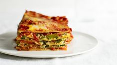 Amp up the veggie quota in your vegetarian lasagna with this clever but easy recipe where strips of zucchini stand in for some of the lasagna noodles. Zucchini Casserole, Casserole Recipes, Vegetarian Cooking, Vegetarian Recipes, Vegetarian Options, Healthy Recipes, Martha Stewart, Vegetable Lasagna Recipes, Vegetable Meals